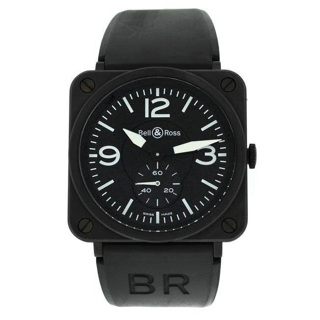 Item - Black Aviation Brs-98-pbmc Men Midsize Ceramic Steel Quartz 39mm Watch