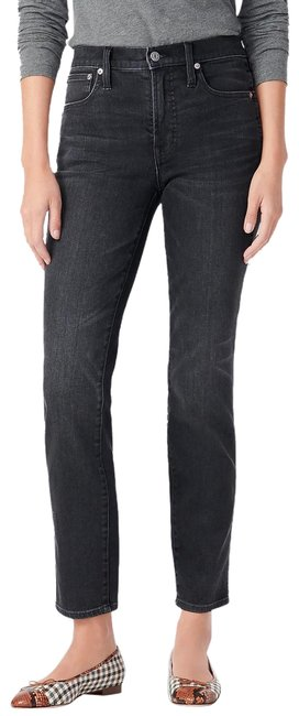 Item - Black Vintage Charcoal Cropped Higher Waist Straight Leg Jeans Size 25 (2, XS)