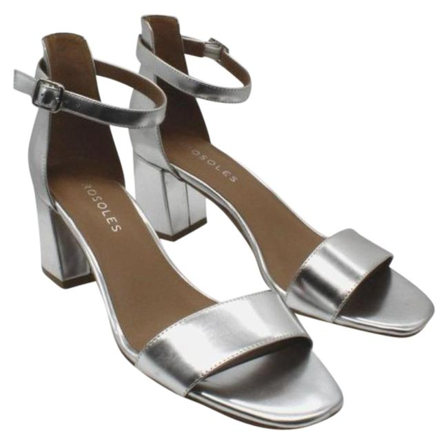 Item - Silver Women's Elba Ankle Strap Heeled Sandals Size US 9.5 Regular (M, B)