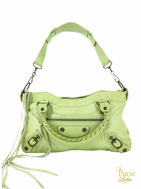 Item - Pistachio Classic First #34588 Green Leather Shoulder Bag