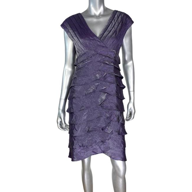Item - Purple Layered Tiered Short Cocktail Dress Size 8 (M)
