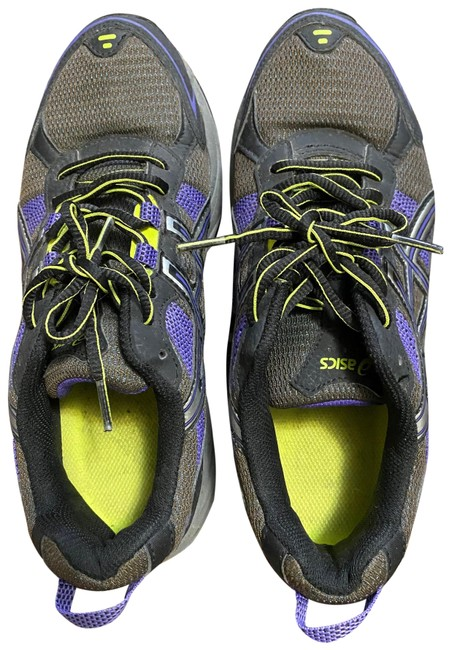Item - Black with Purple and Yellow Green T373n Sneakers Size US 8 Regular (M, B)