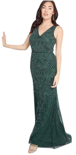 Item - Green Modcloth Refined Palate Beaded Maxi & Long Formal Dress Size 8 (M)