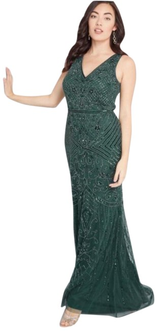 Item - Green Modcloth Refined Palate Beaded Maxi 6& Long Formal Dress Size 6 (S)