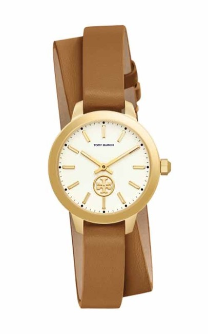 Item - Gold/ Brown Collin Luggage Leather Wrap Strap Tbw1304 Watch