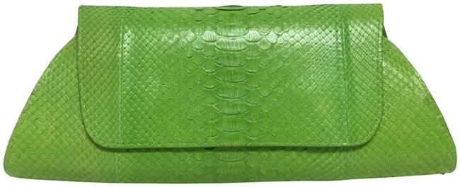 Item - Lime Green Snakeskin Leather Clutch