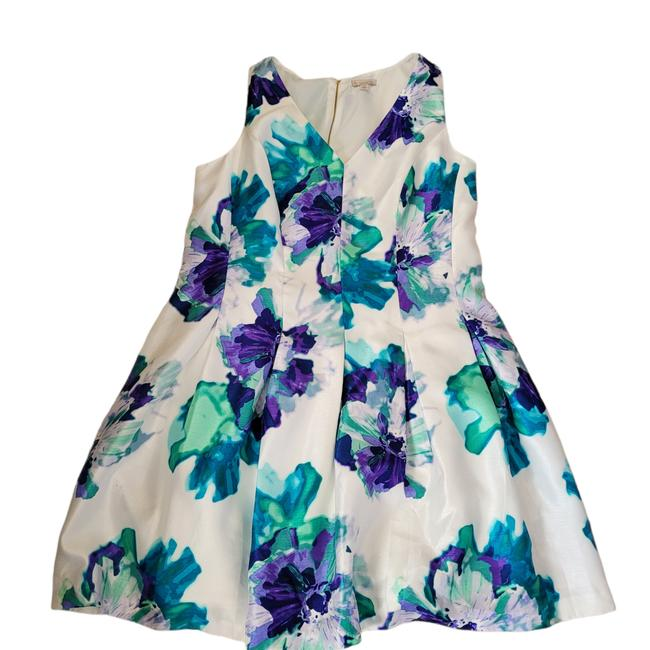 Item - Blue Floral Work/Office Dress Size 18 (XL, Plus 0x)