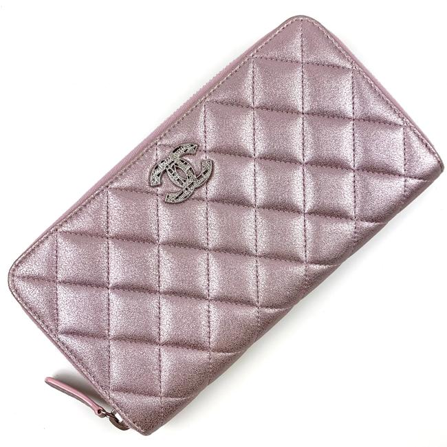 Item - Pink/Silver Quilted Zip Wallet