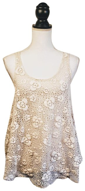 Item - White / Staring At Stars Lace Tank Top/Cami Size 6 (S)