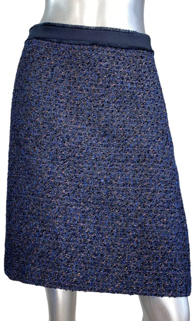 Item - Blue Tweed A-line Skirt Size 2 (XS, 26)