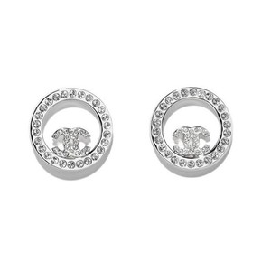 Chanel Authentic l Round CC Logo Earrings