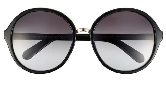 Item - Black and Pale Gold Bernadette/S 0807 Y7 58mm Round Oversized Sunglasses