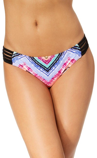 California Waves Multicolor Strappy Hipster Bikini Bottom Size 4 (S) California Waves Multicolor Strappy Hipster Bikini Bottom Size 4 (S) Image 1