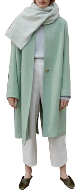 Item - Oversize Collarless Long Wool Coat Size 12 (L)