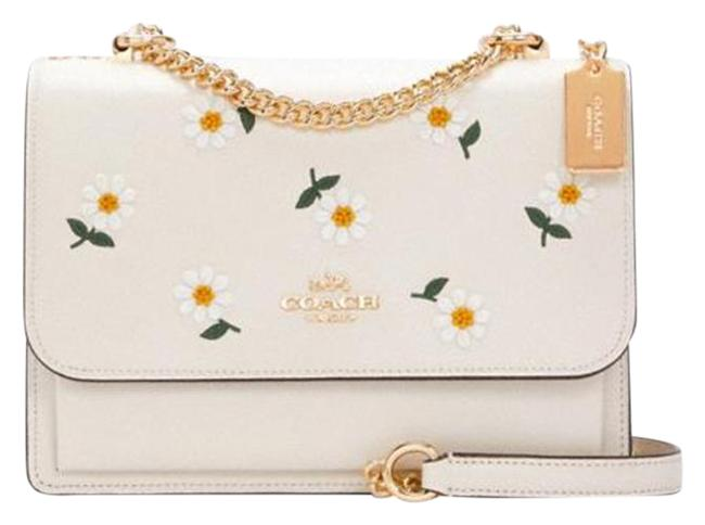 Item - C2858 Klare with Daisy Embroidery In Chalk Multi Leather Cross Body Bag
