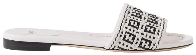 Item - White Woven Leather Sandals Size EU 40.5 (Approx. US 10.5) Regular (M, B)
