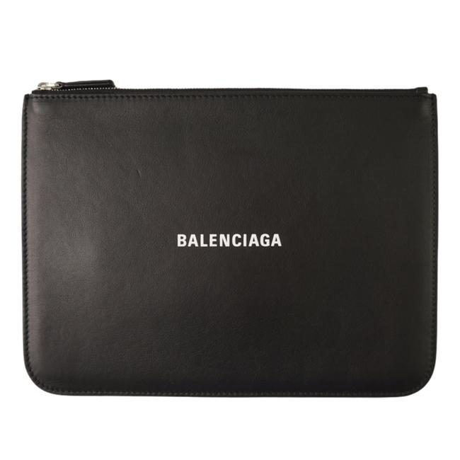 Item - New Pouch Black Leather Clutch