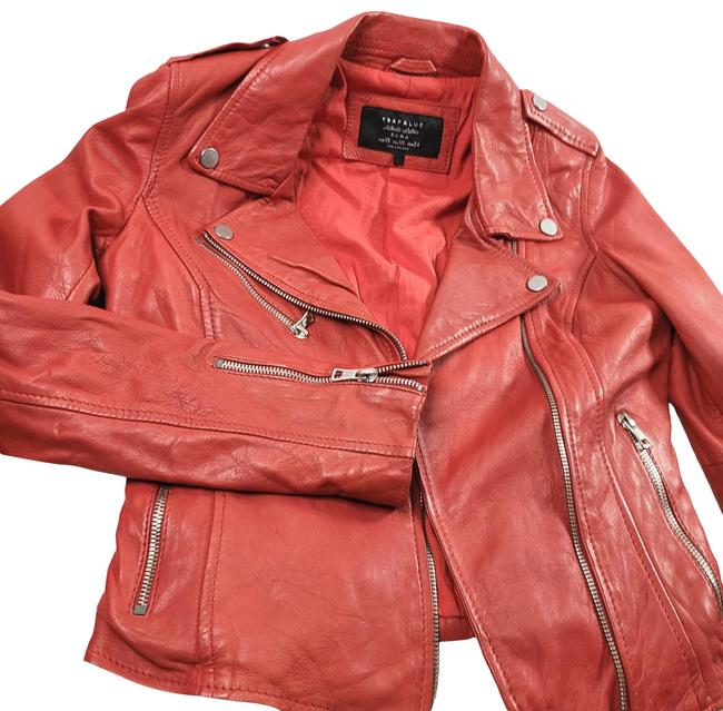 Item - Red Motorcycle Jacket Size 2 (XS)