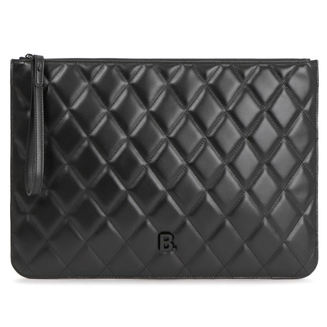 Item - New Quilted Wristlet Pouch Black Leather Clutch