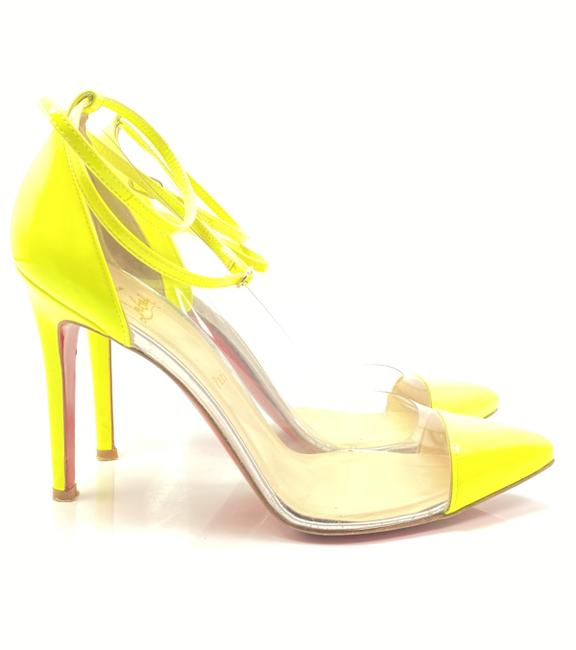 Item - Yellow Un Bout 100 Fluo Patent Leather Pumps Size EU 39 (Approx. US 9) Regular (M, B)