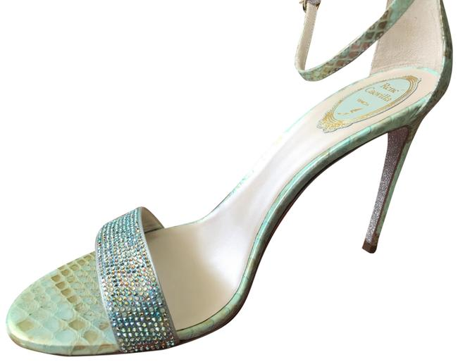 Item - Green Iridescent Fancy Sandals Size EU 42 (Approx. US 12) Regular (M, B)