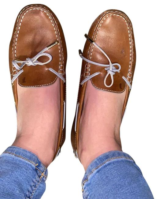 Item - Brown and Blue Flats Size US 8 Regular (M, B)