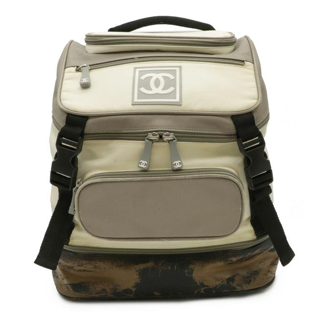 Item - Sports Line Coco Mark Rucksack A03595 Black / Cream / Gray Nylon / Rubber / Leather Backpack
