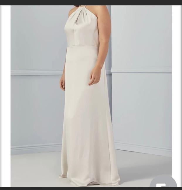 """Item - Champagne Satin """"gia"""" Gown Formal Bridesmaid/Mob Dress Size 6 (S)"""