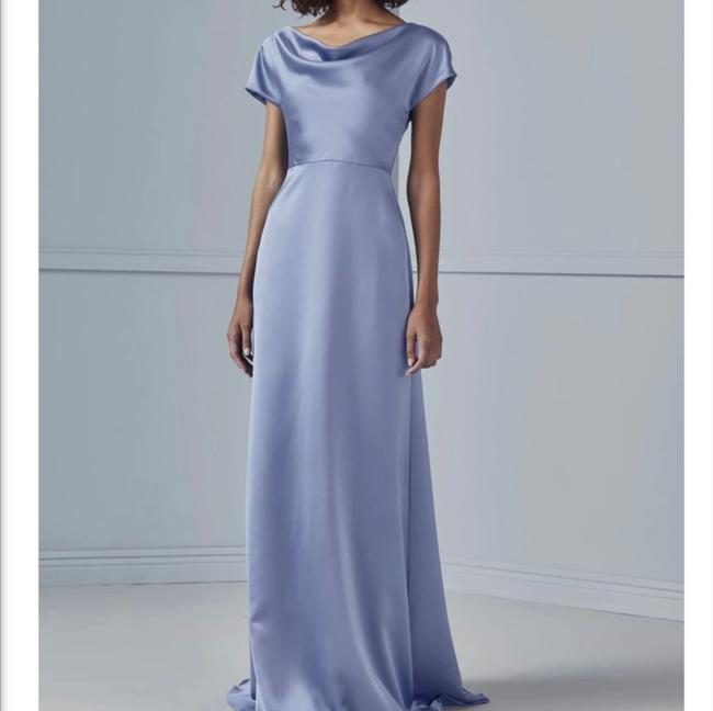 """Item - Champagne Satin """"marie"""" Gown Formal Bridesmaid/Mob Dress Size 8 (M)"""