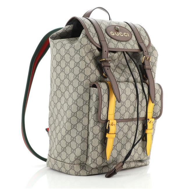 Gucci Courrier Soft Gg Large Brown Yellow Canvas (Coated) Backpack Gucci Courrier Soft Gg Large Brown Yellow Canvas (Coated) Backpack Image 2