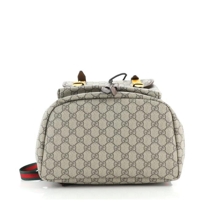 Gucci Courrier Soft Gg Large Brown Yellow Canvas (Coated) Backpack Gucci Courrier Soft Gg Large Brown Yellow Canvas (Coated) Backpack Image 4