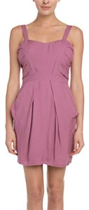 BCBGeneration Pink Straps Pleat Bodice Dress