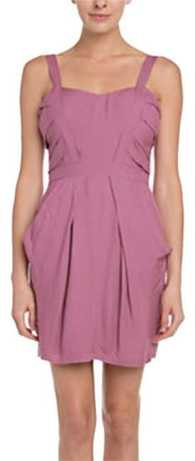Preload https://item4.tradesy.com/images/bcbgeneration-mauve-rose-pleat-mid-length-workoffice-dress-size-0-xs-2903983-0-0.jpg?width=400&height=650