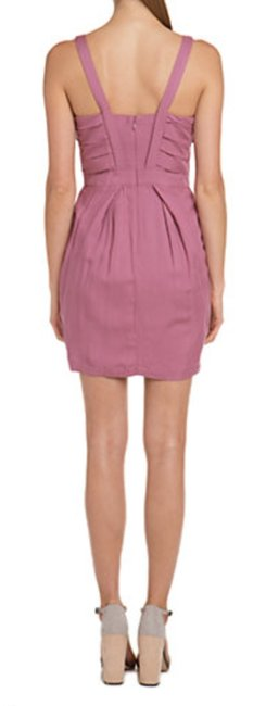 BCBGeneration Pink Straps Pleat Bodice Dress Image 1