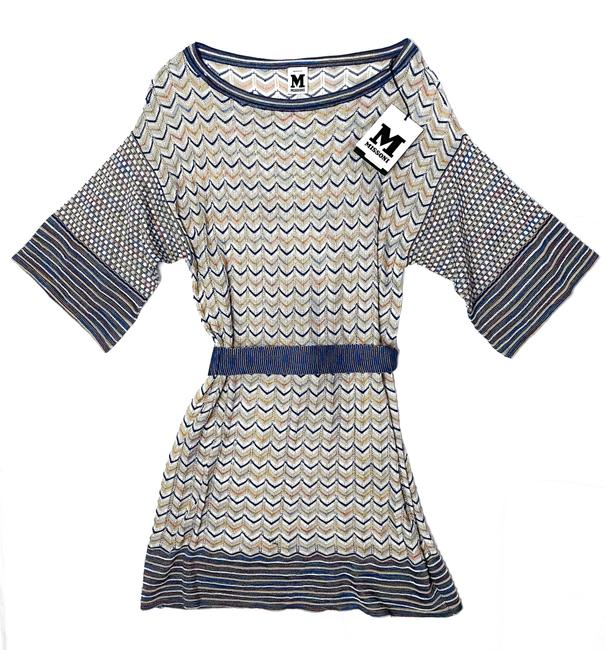 Item - Multicolor Mare Knit Chevron Striped Belted 40 New Tags Short Casual Dress Size 4 (S)