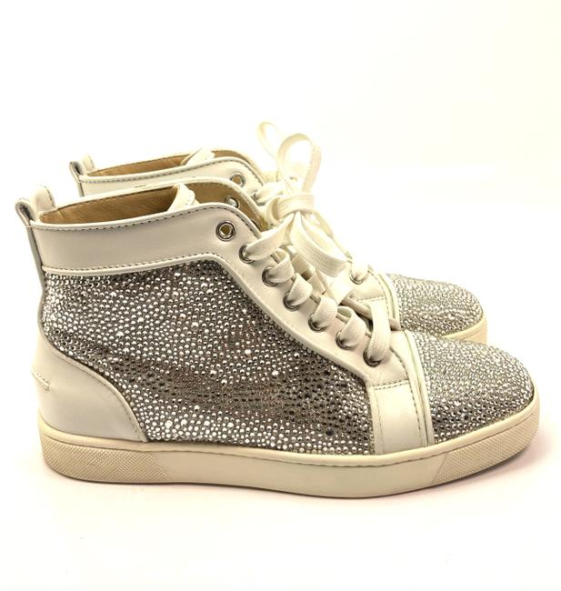 Item - Silver White Louis Strass High Top Women Swarovski Sneakers Size EU 38.5 (Approx. US 8.5) Regular (M, B)