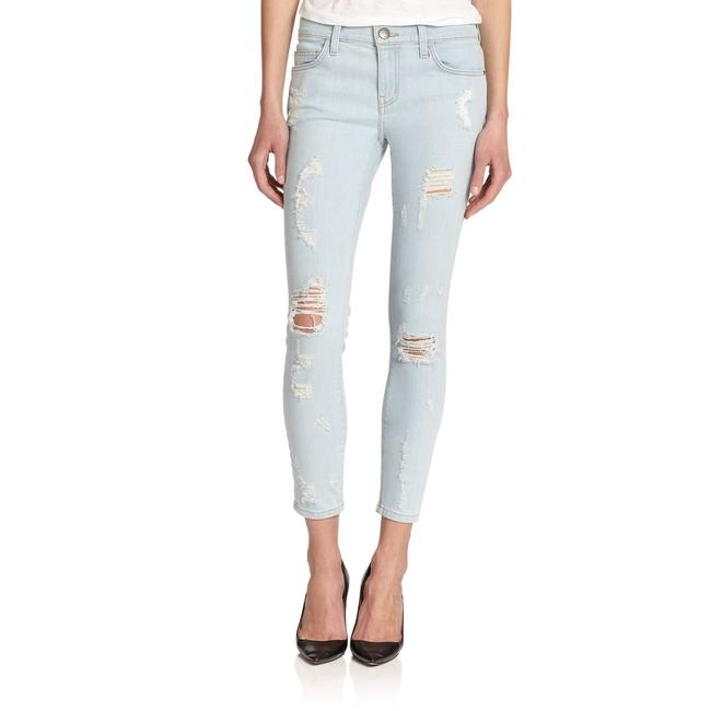 Item - Blue Light Wash The Stiletto Distressed Skinny Jeans Size 27 (4, S)