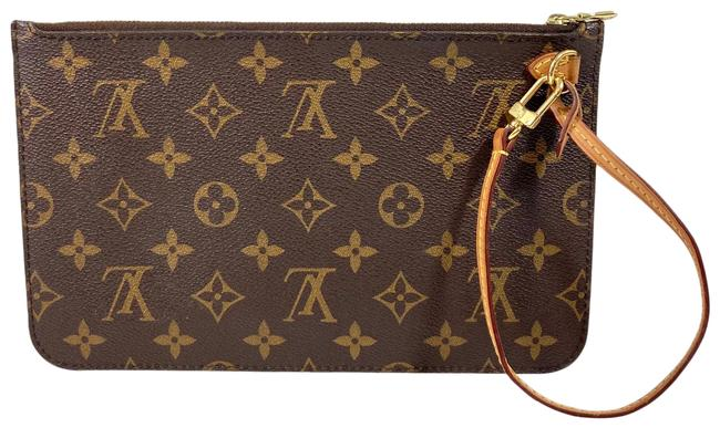 Item - Neverfull Gm Pouch Only with Mimosa Interior Brown Monogram Canvas Wristlet