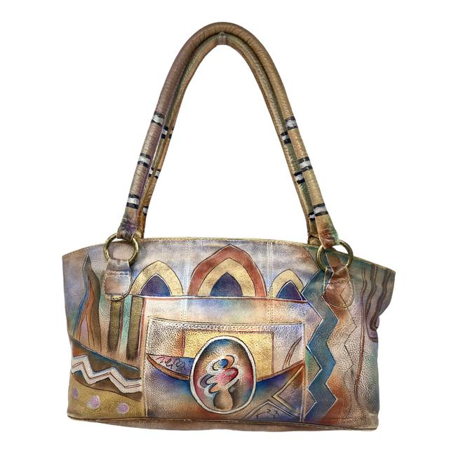 Item - Hand Painted Multicolor Leather Tote