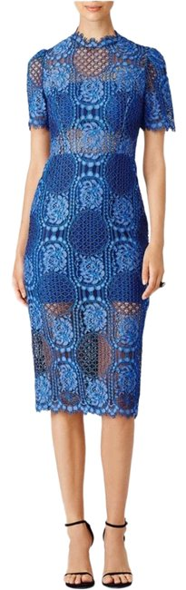 Item - Blue Mid-length Cocktail Dress Size 4 (S)