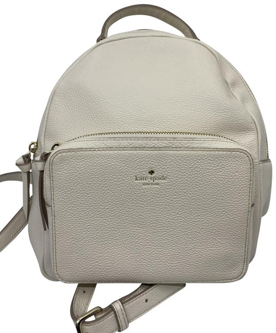 Item - Cream White Leather Backpack