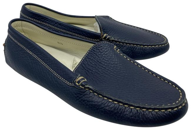 Item - Navy Leather Classic Loafers Flats Size US 6.5 Regular (M, B)