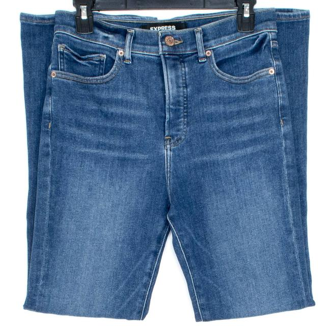Item - Blue Womens High Rise 8 Short As Boot Cut Jeans Size 32 (8, M)