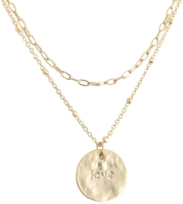 Item - Gold Layered Love Disc Simple Everyday Necklace