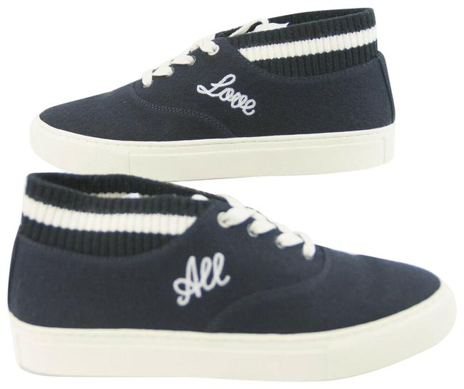 Item - Blue Bright Navy Snow White Love All Hi-top Trainer Sneakers Size US 7 Regular (M, B)