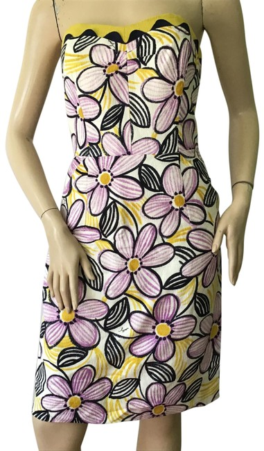 Item - Purple /Yellow New York Short Casual Dress Size 6 (S)