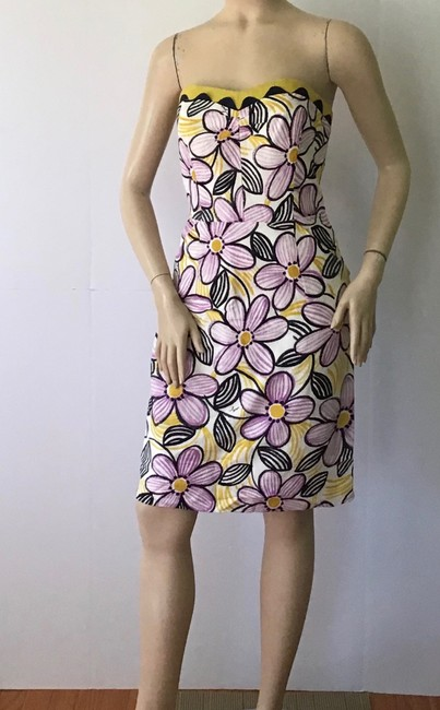 MILLY Purple /Yellow New York Short Casual Dress Size 6 (S) MILLY Purple /Yellow New York Short Casual Dress Size 6 (S) Image 3