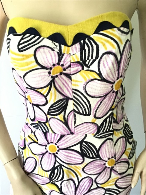 MILLY Purple /Yellow New York Short Casual Dress Size 6 (S) MILLY Purple /Yellow New York Short Casual Dress Size 6 (S) Image 4