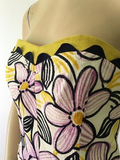 MILLY Purple /Yellow New York Short Casual Dress Size 6 (S) MILLY Purple /Yellow New York Short Casual Dress Size 6 (S) Image 5