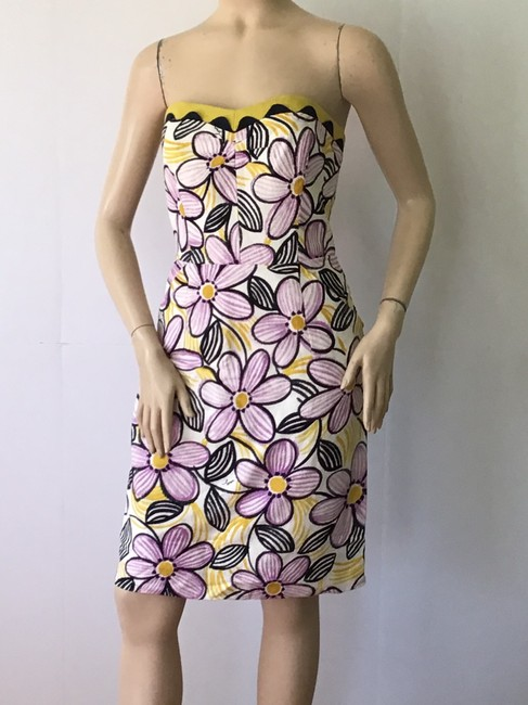MILLY Purple /Yellow New York Short Casual Dress Size 6 (S) MILLY Purple /Yellow New York Short Casual Dress Size 6 (S) Image 6